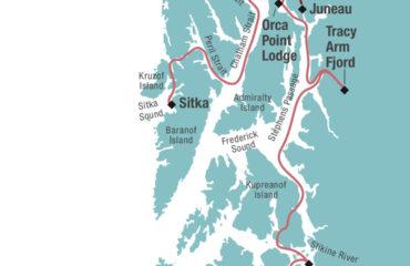 ALASKA INSIDE PASSAGE MAP