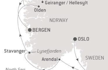 BERGEN-OSLO MAP