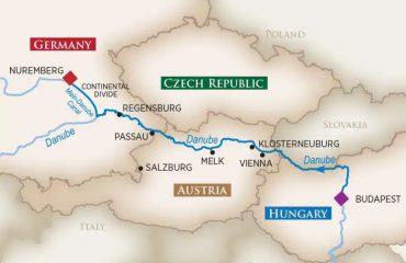 BUDAPEST-NUREMBERG MAP