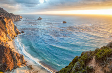 Big Sur coastline panorama at sunset, California, USA