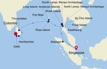 COLOMBO-SINGAPORE MAP