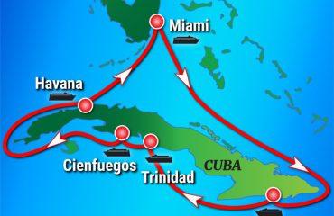 Cuba-360 Cruise Route Map
