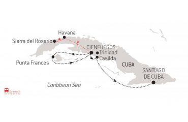 Cuba Route Map
