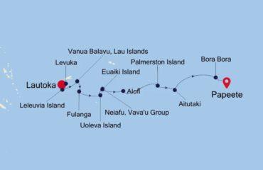 Fiji-Polynesia Map