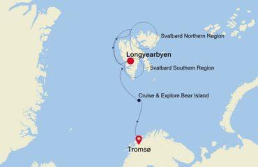 LOUNGYEARBYEN-TROMSO ROUTE MAP