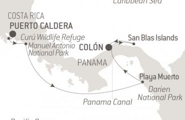 Map Costa Rica-Panama