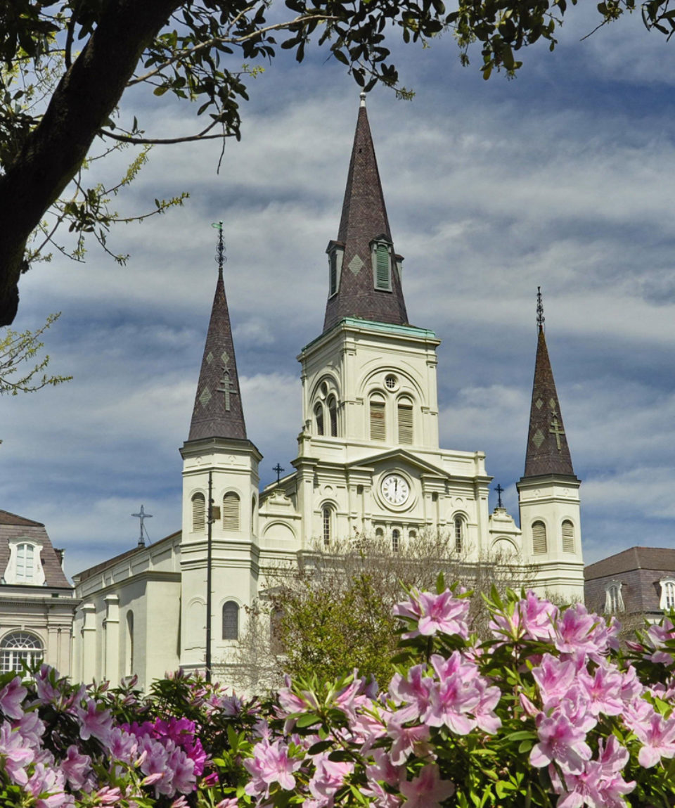 St. Louis Cathedral on Jackson Square in New Orleans, USA
