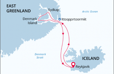 East Greenland Route Map