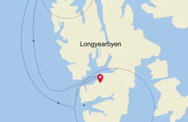 ROUNDTRIP LONGYEARBYEN ROUTE MAP