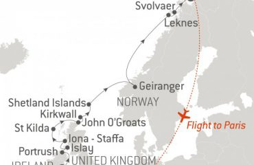 ROUTE MAP - DUBLIN TO TROMSO