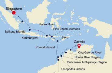 SINGAPORE-DARWIN MAP