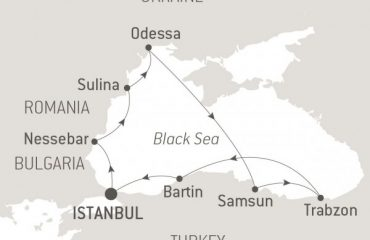 THE BLACK SEA ROUTE MAP
