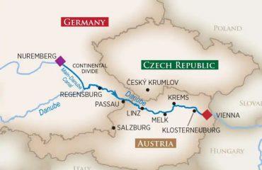Vienna-Nuremberg map
