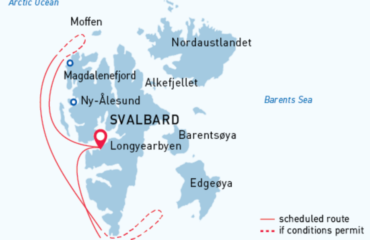 West Svalbard Route Map