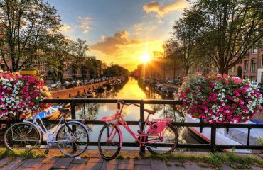 Amsterdam Canals at Sunrise