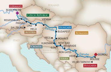 Grand Danube Route Map