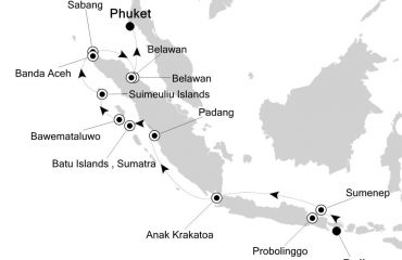 Bali to Phuket Route Map