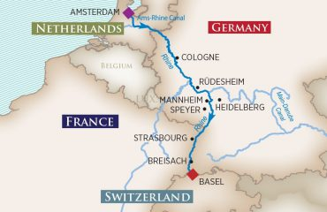 Captivating Rhine Route Map