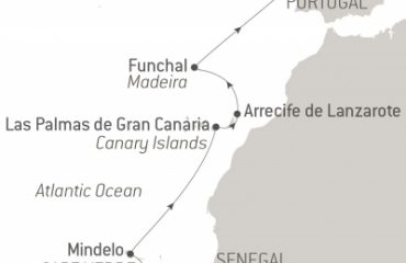 Route Map CAPE VERDE AND CANARY ISLANDS