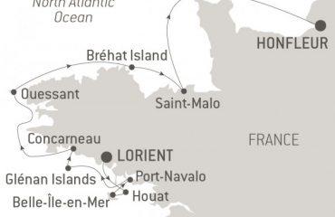 Route Map The îles du Ponant