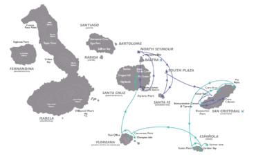 EAST GALAPAGOS MAP