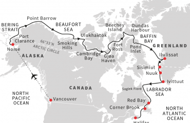 nw passage map