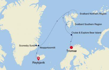 TROMSO - REYKJAVIK MAP