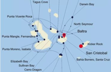 11-NIGHT CHRISTMAS GALAPAGOS - SAN CRISTOBAL to BALTRA MAP