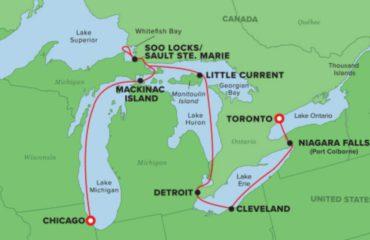 CHICAGO-TORONTO MAP