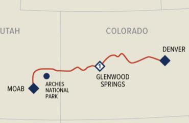 Denver-Moab Map