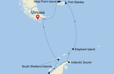 Falklands and Antarctica Map